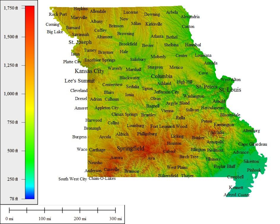 Missouri Topographic Maps Missouri Map - Maps of mo
