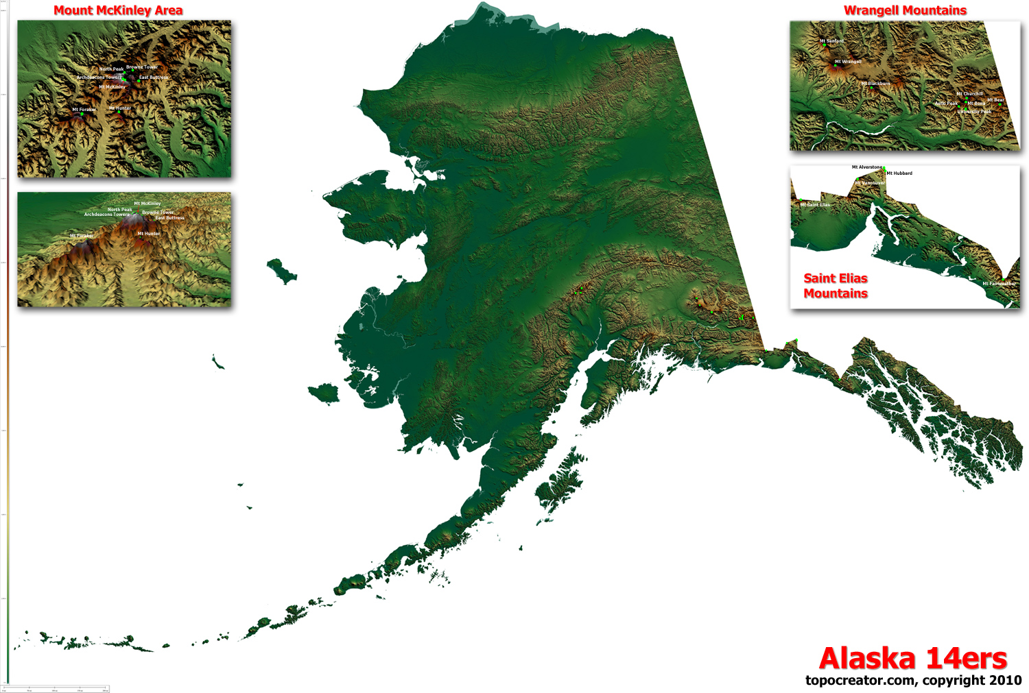 TopoCreator - Create and print your own color shaded-relief ... on map of hawaiian coloring pages, map of asia and hawaii, map of alaska,